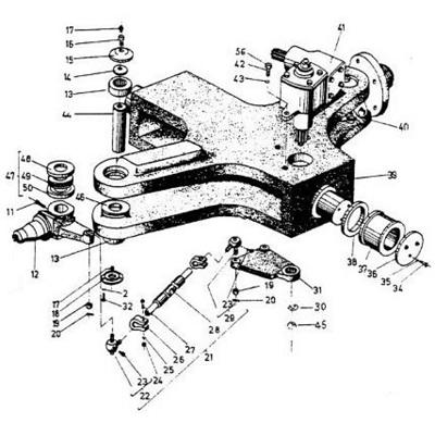 Piesa 41 - mecanismul de direcție globoidă cu melc