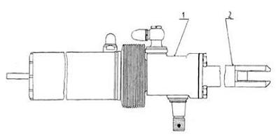 Cilindru de lucru exterior pentru sistemul de direcție