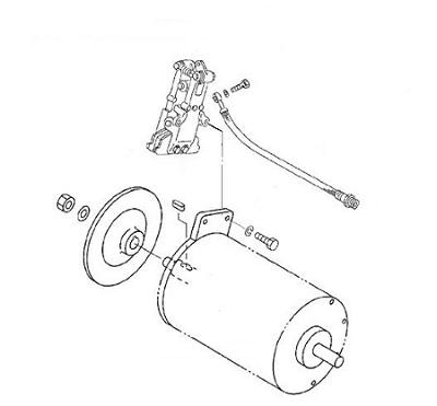Frâna cu disc construit pe motorul de propulsie al stivuitorului Caterpillar